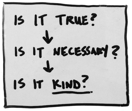 Three questions to ask before you speak